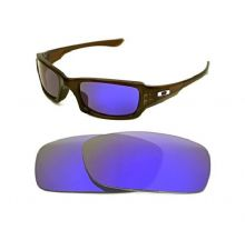 NEW POLARIZED CUSTOM PURPLE LENS FOR OAKLEY FIVES SQUARED SUNGLASSES